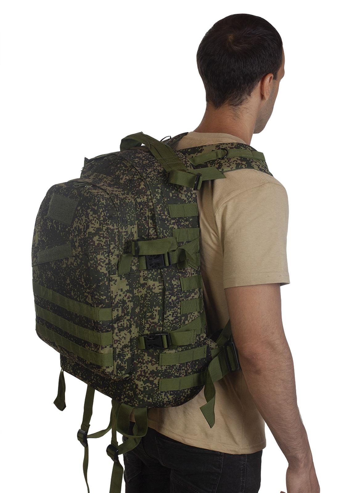"""Надёжный военный рюкзак (русский камуфляж """"Цифра"""") - оптом и в розницу"""