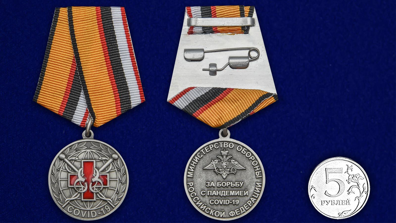 Наградная медаль За борьбу с пандемией COVID-19 - сравнительный вид