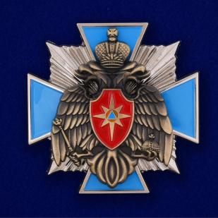 Наградной крест МЧС России в оригинальном футляре из флока - купить по выгодной цене