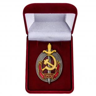 Наградной знак Заслуженный работник СМЕРШ - в футляре