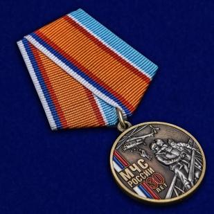 Нагрудная медаль 30 лет МЧС России - общий вид