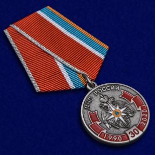 Нагрудная медаль к 30-летию МЧС России - общий вид