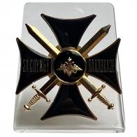 Нагрудный крест За службу на Кавказе на подставке