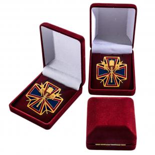 """Нагрудный крест """"За заслуги перед Кубанским казачеством"""" в футляре"""