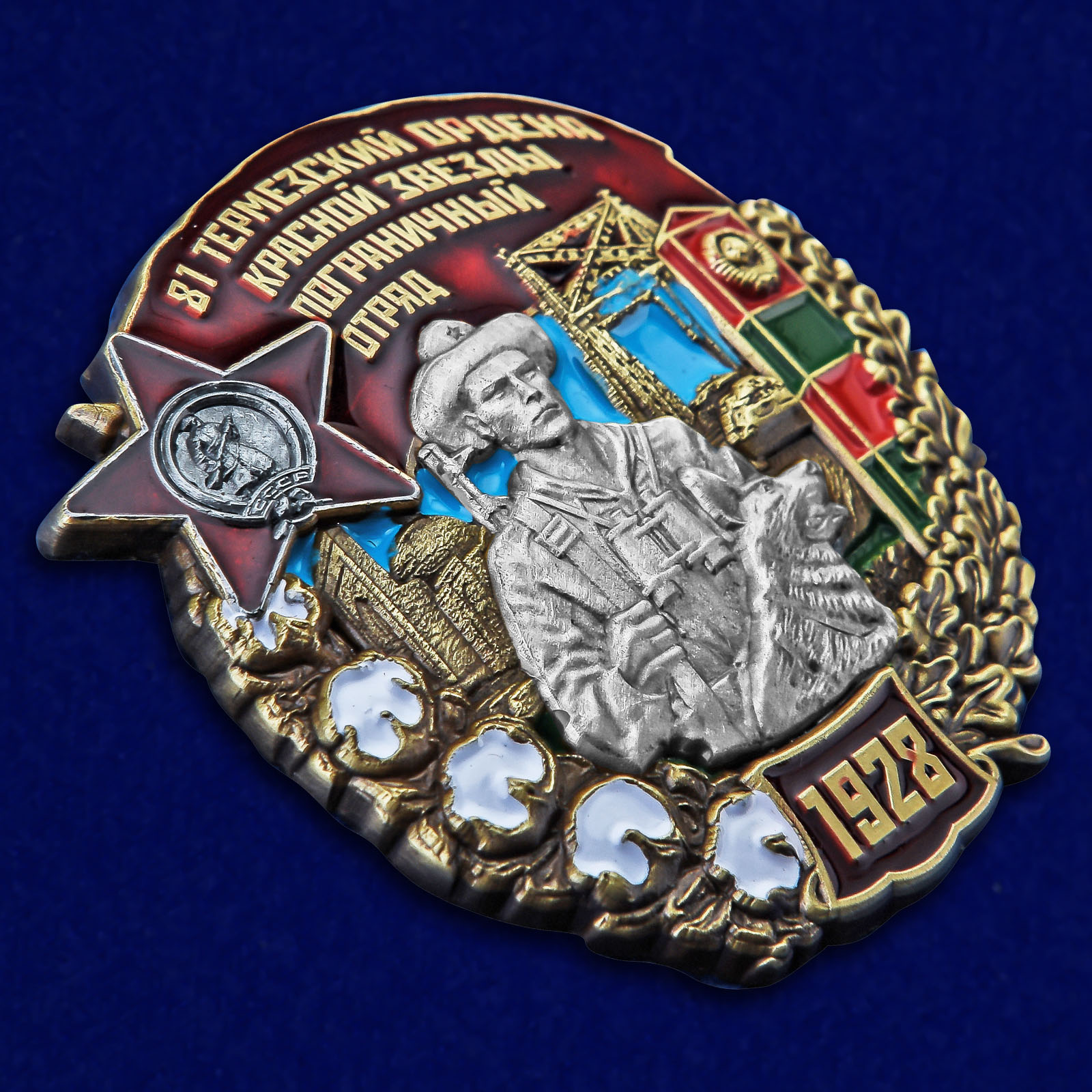 Нагрудный знак 81 Термезский ордена Красной Звезды пограничный отряд - общий вид