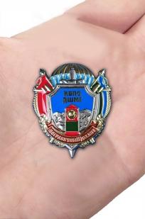 Нагрудный знак КВПО ДШМГ Пограничный десант - вид на ладони