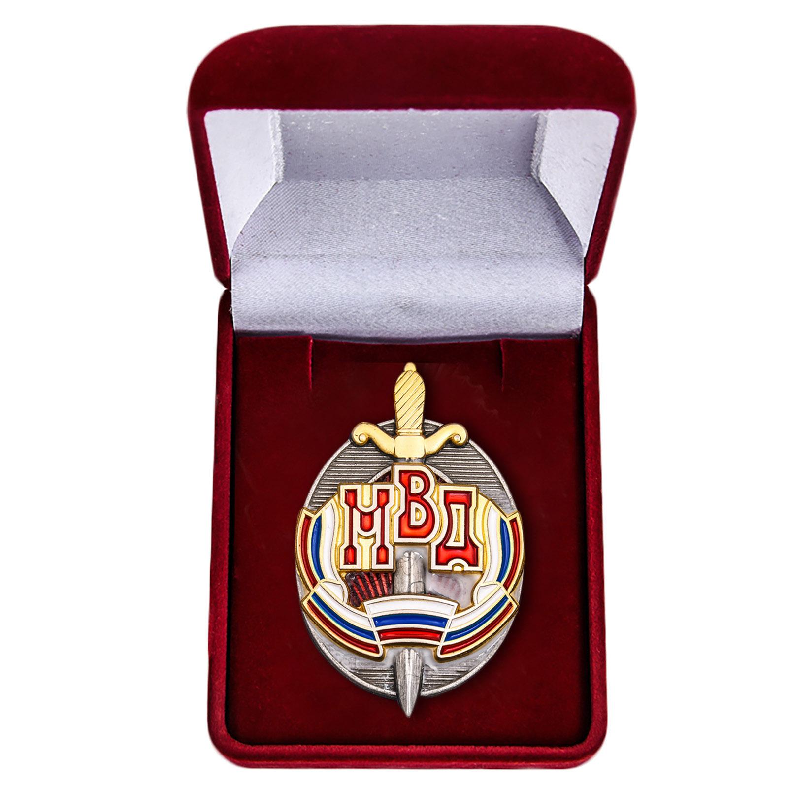 """Нагрудный знак """"Почетный сотрудник МВД"""" купить в Военпро"""