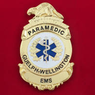 Нагрудный знак сотрудников Скорой медицинской помощи города Гуэлф, округ Веллингтон, Онтарио, Канада