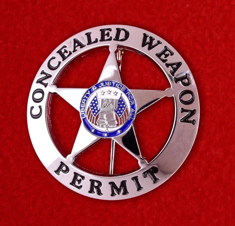 Нагрудный знак США разрешения на ношение оружия