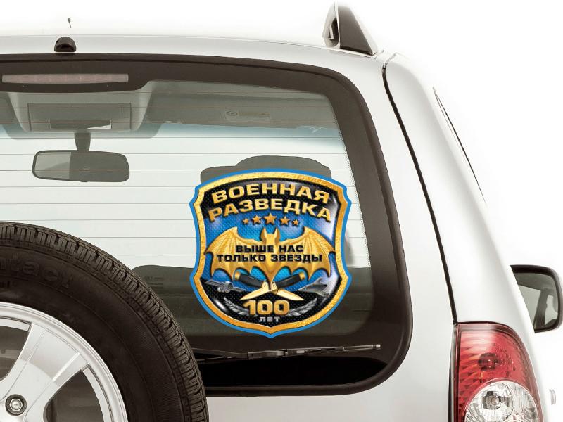 Наклейка «Военная Разведка» на стекло автомобиля