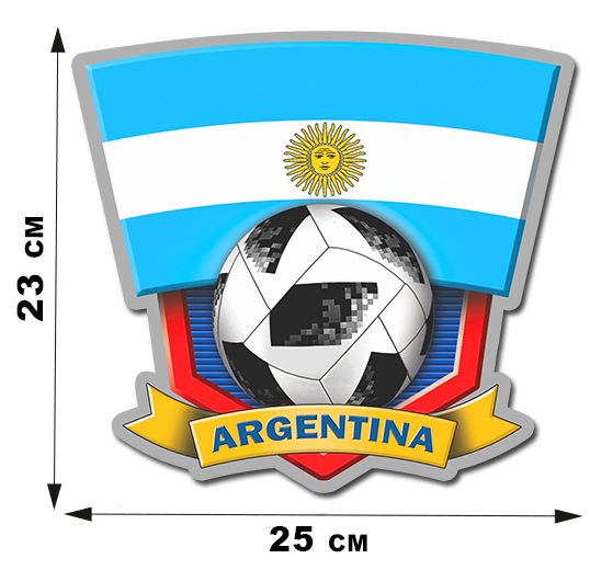 Наклейка ARGENTINA на авто