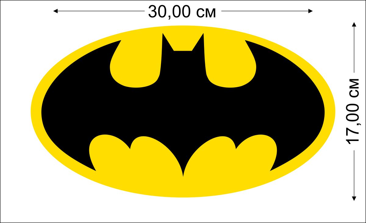 Наклейка Бэтмен на авто
