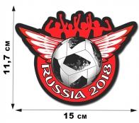 Наклейка футбольного фаната.