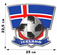Наклейка болельщика сборной Исландии