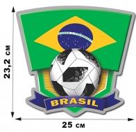 Наклейка бразильской сборной команды