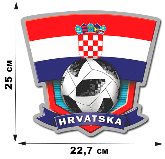 Наклейка с символикой сборной Хорватии