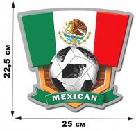 Наклейка с символикой сборной Мексики.