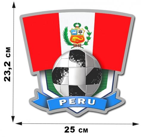 Наклейка с символикой сборной Перу