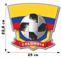 Наклейка COLOMBIA болельщикам