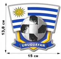 Наклейка футбольной команды Уругвая.