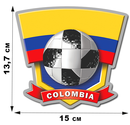 Наклейка команды COLOMBIA