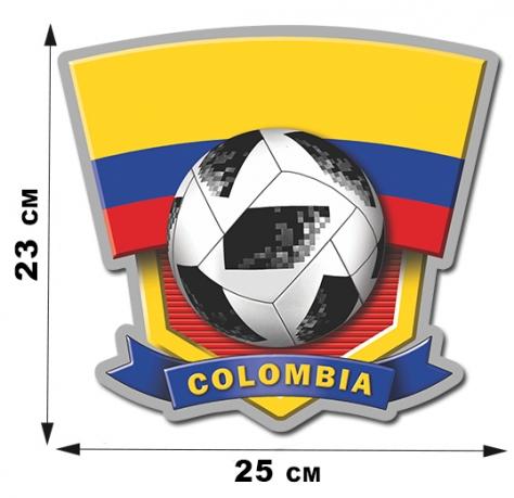 Наклейка на авто COLOMBIA