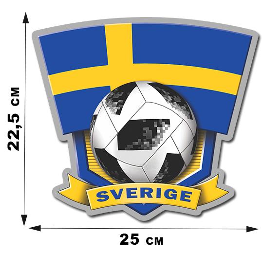 Наклейка на авто SVERIGE