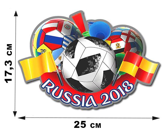 Наклейка на машину FIFA