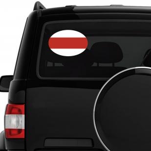 Наклейка на машину с бело-красно-белым флагом Беларуси