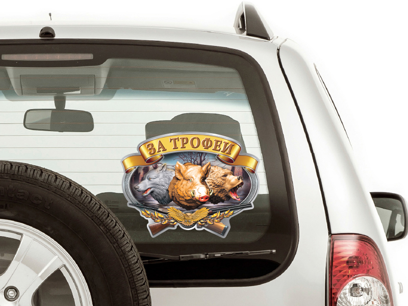 Наклейка на машину охотника
