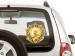 Наклейка Орден Жукова - вид на стекло авто