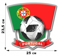 Наклейка Португалии для поддержки команды