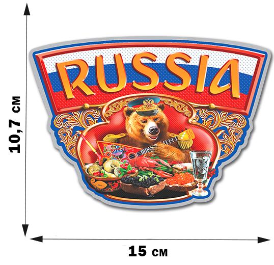 "Наклейка с русским медведем ""Russia"""