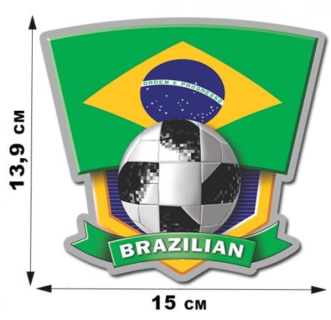 Наклейка сборной Бразилии.