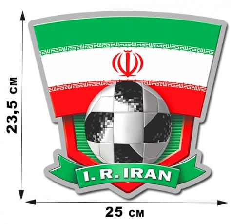 Наклейка сборной команды Ирана.