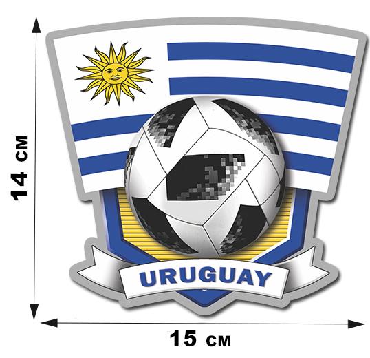 Наклейка сборной команды Уругвая.