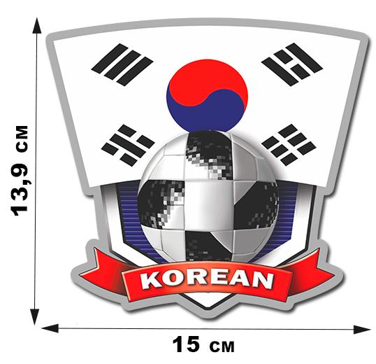 Наклейка сборной Кореи.