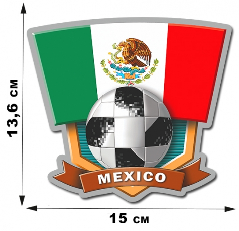 Наклейка сборной Мексики FIFA.