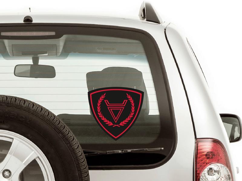 """Наклейка на авто """"Символ Бога Велеса"""""""