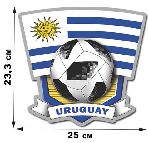 Наклейка Uruguay
