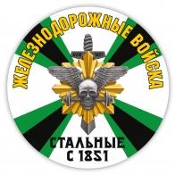 Наклейка Железнодорожные войска