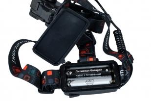 Налобный аккумуляторный фонарь Led