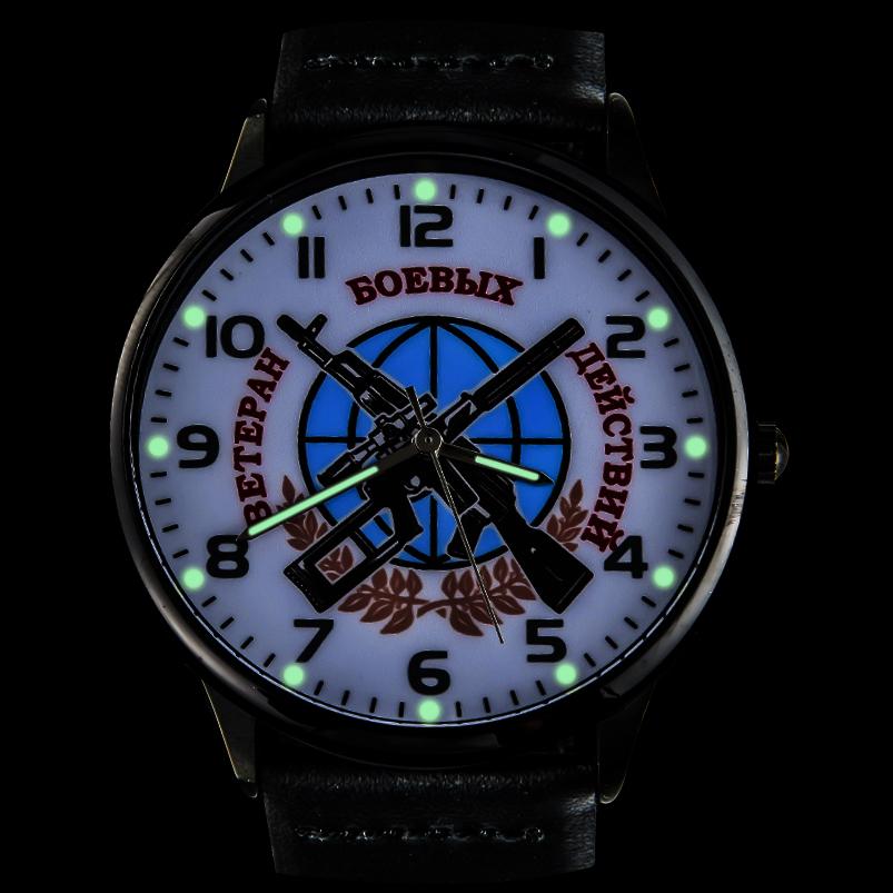 Наручные часы «Ветеран боевых действий» с подсветкой