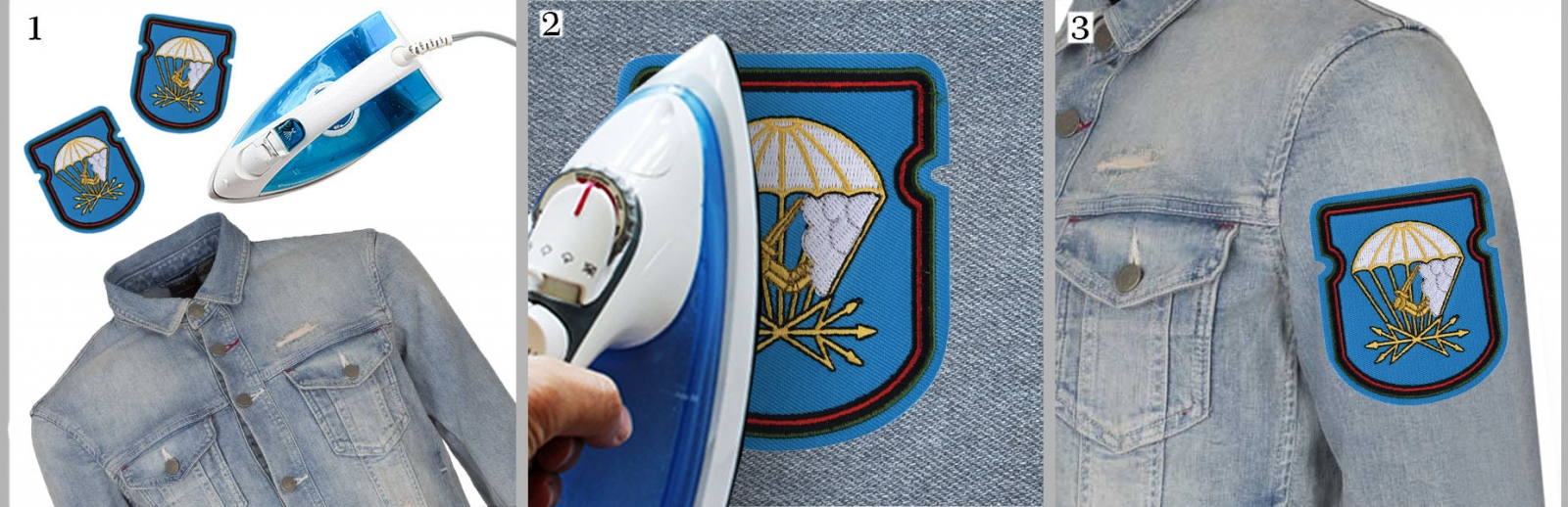 "Нарукавный знак ""674 батальон связи 98 ВДД ВДВ"" на куртке"