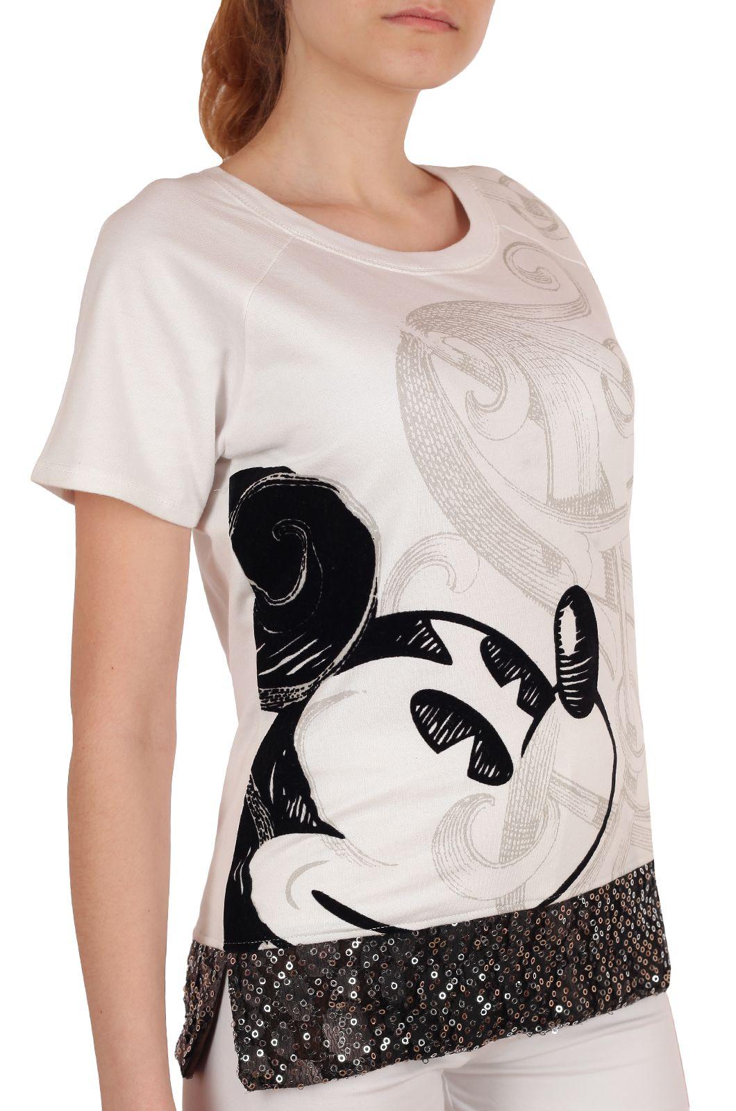 Нарядная футболка от Disney (США) белого цвета