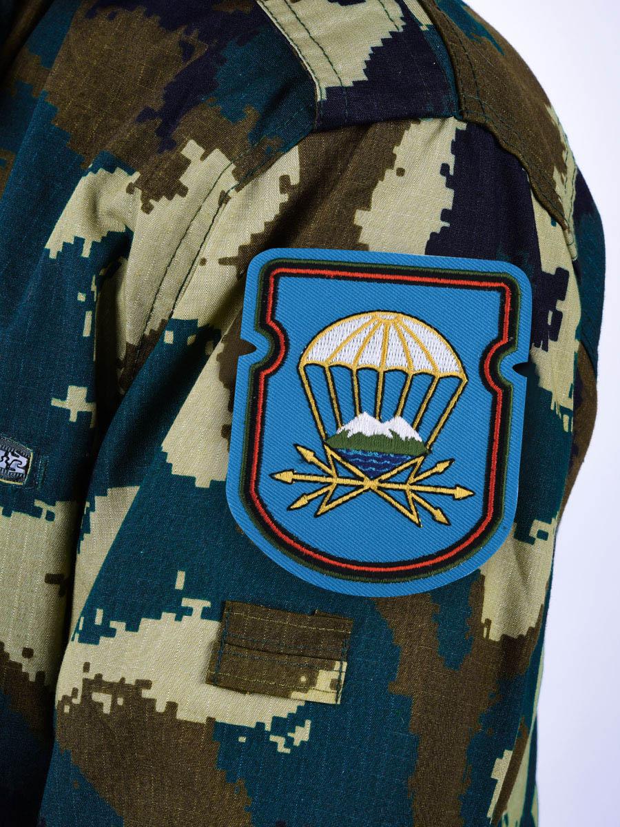 """Нашивка-эмблема """"743 отдельный батальон связи 7 ДШД"""""""