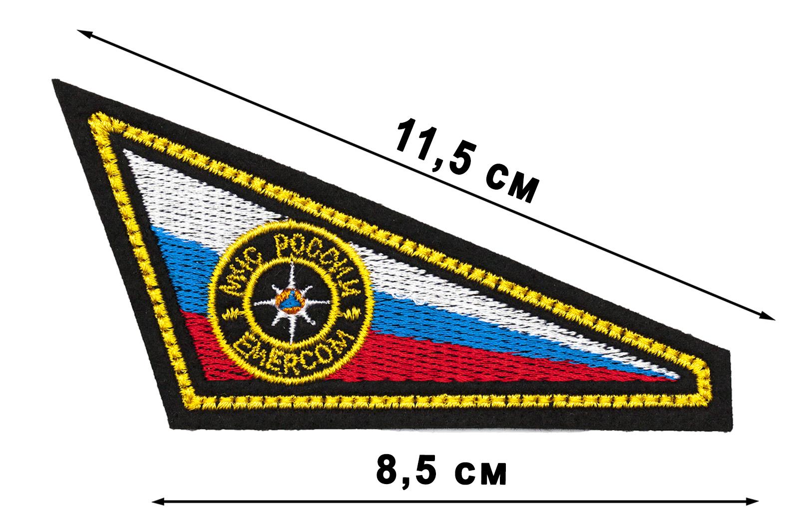 Недорого купить нашивку уголок на берет МЧС России