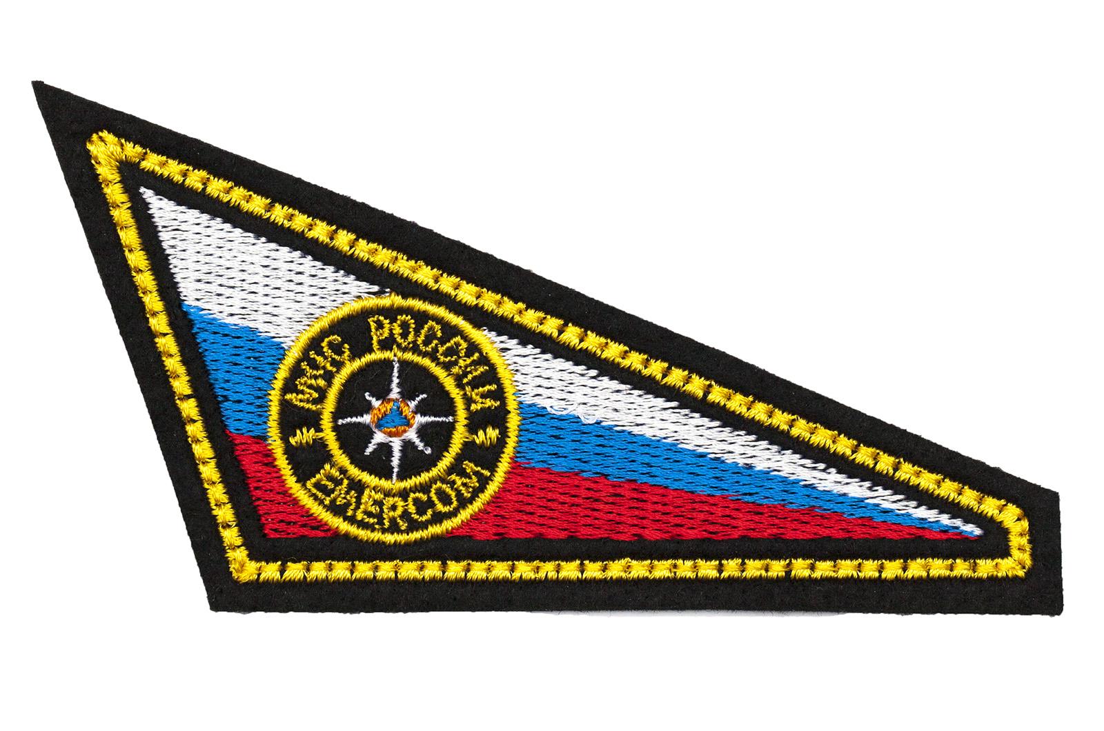Нашивка уголок на берет МЧС России