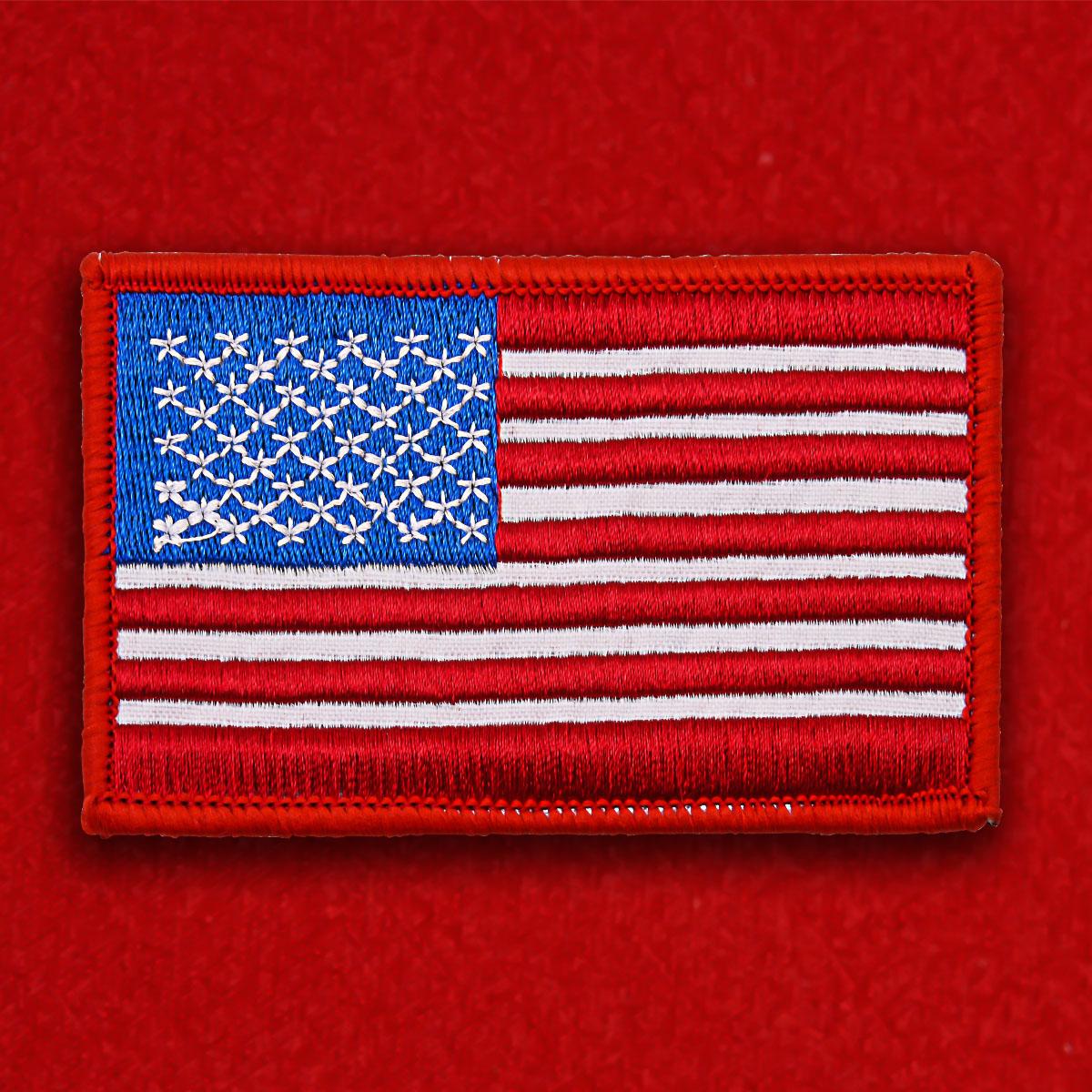 "Нашивка на липучке ""Флаг США"""