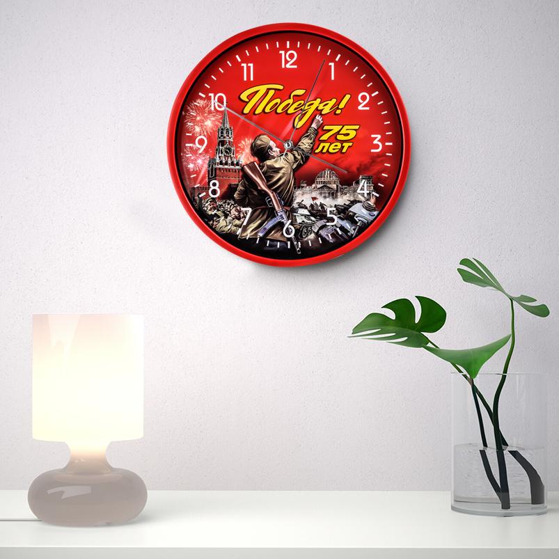 Настенные часы «75 лет Победы» заказать в Военпро